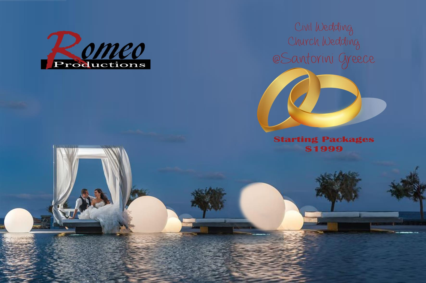 Santorini Wedding Package